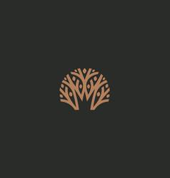 Abstract royal tree logo icon park nature vector