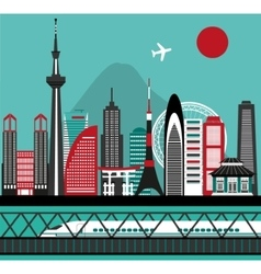 Asian city vector