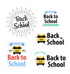 Back to school stickers set great design for any vector