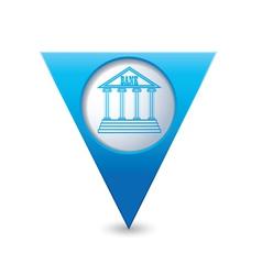 Bank icon pointer blue vector