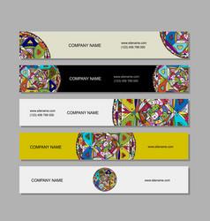 banners design ethnic mandala vector image