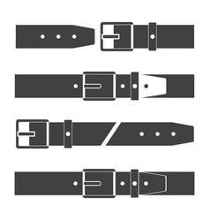 Belts set icon vector