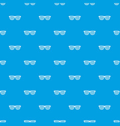 Black pinhole glasses pattern seamless blue vector