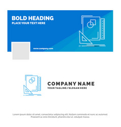 blue business logo template for design layout vector image