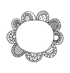 Bohemian or boho style flower icon image vector