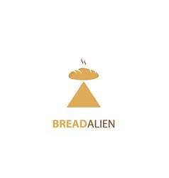 Bread ship alien logo vector
