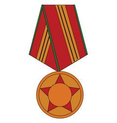 bronze medal on white background vector image