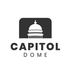 capitol dome logo design inspiration vector image