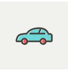 Car thin line icon vector image