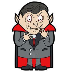 cartoon classic vampire vector image