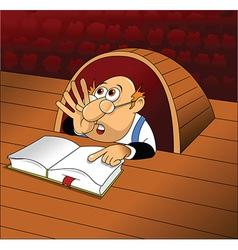 Cartoon prompter vector image