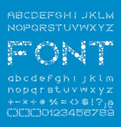 Circles Font of different sizes alphabet and vector
