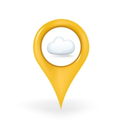 Cloudy Location vector image