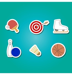 color set with sport icons vector image vector image