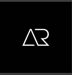 Cool and modern logo initials ar design 1 vector