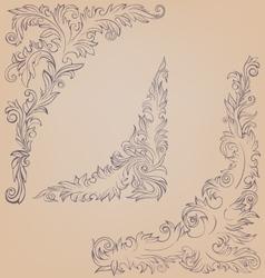 Corner element ornate decorated baroque roccoco vector