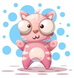 cute funny - cartoon cat characters vector image