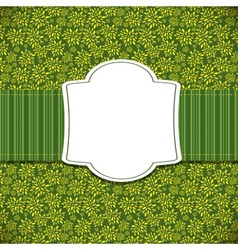 Cute Green Natural Frame vector
