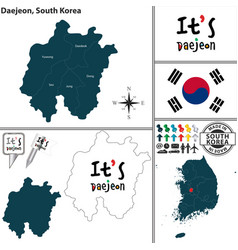 Daejeon metropolitan city south korea vector