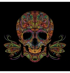 Decorative color skull vector image