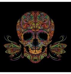 Decorative color skull vector