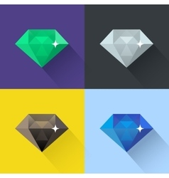 Diamond set in flat design vector