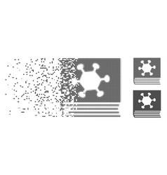 Disintegrating pixel halftone parasite vector