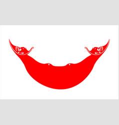 Easter island flag vector