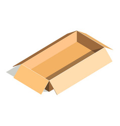 empty container carton store package delivery vector image