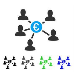 Euro social links flat icon vector
