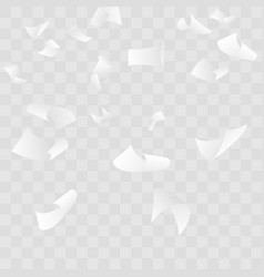 Falling paper sheets halftone background white vector
