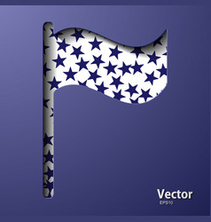Flag mockup banner templates set vector