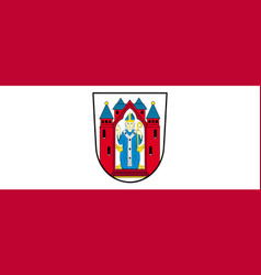 Flag of aschaffenburg in lower franconia in vector