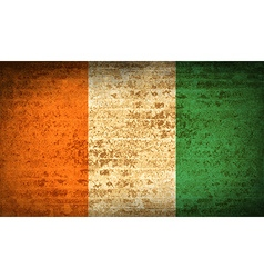 Flags Cote dlvoire with dirty paper texture vector image