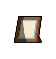Frame photo wooden shadow vector