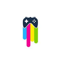 Game paint logo icon design vector