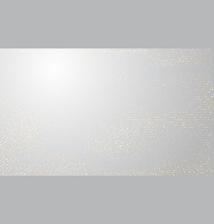 gold and silver halftone background golden vector image