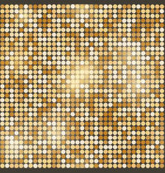 gold glittering round mosaic seamless background vector image