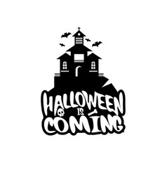 halloween design with typography and white vector image