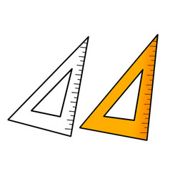 Hand drawn student and teacher triangle measure vector