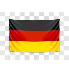 hanging flag germany federal republic of vector image