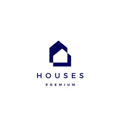 house home architect mortgage facade logo icon vector image