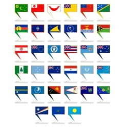Icons with the flags of Australia and Oceania vector image