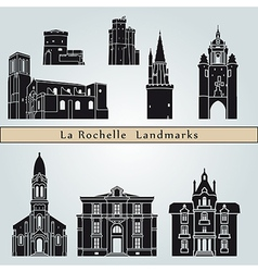 La Rochelle landmarks and monuments vector