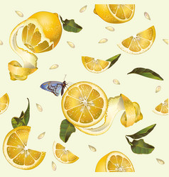Lemon seamless pattern vector