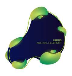 liquid colorful shapes abstract modern vector image