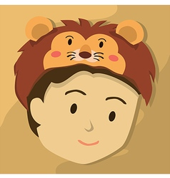 Man with Lion Hat vector image
