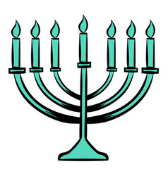Menorah icon cartoon vector