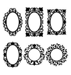 mirror frames vector image