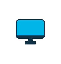 monitor icon colored symbol premium quality vector image